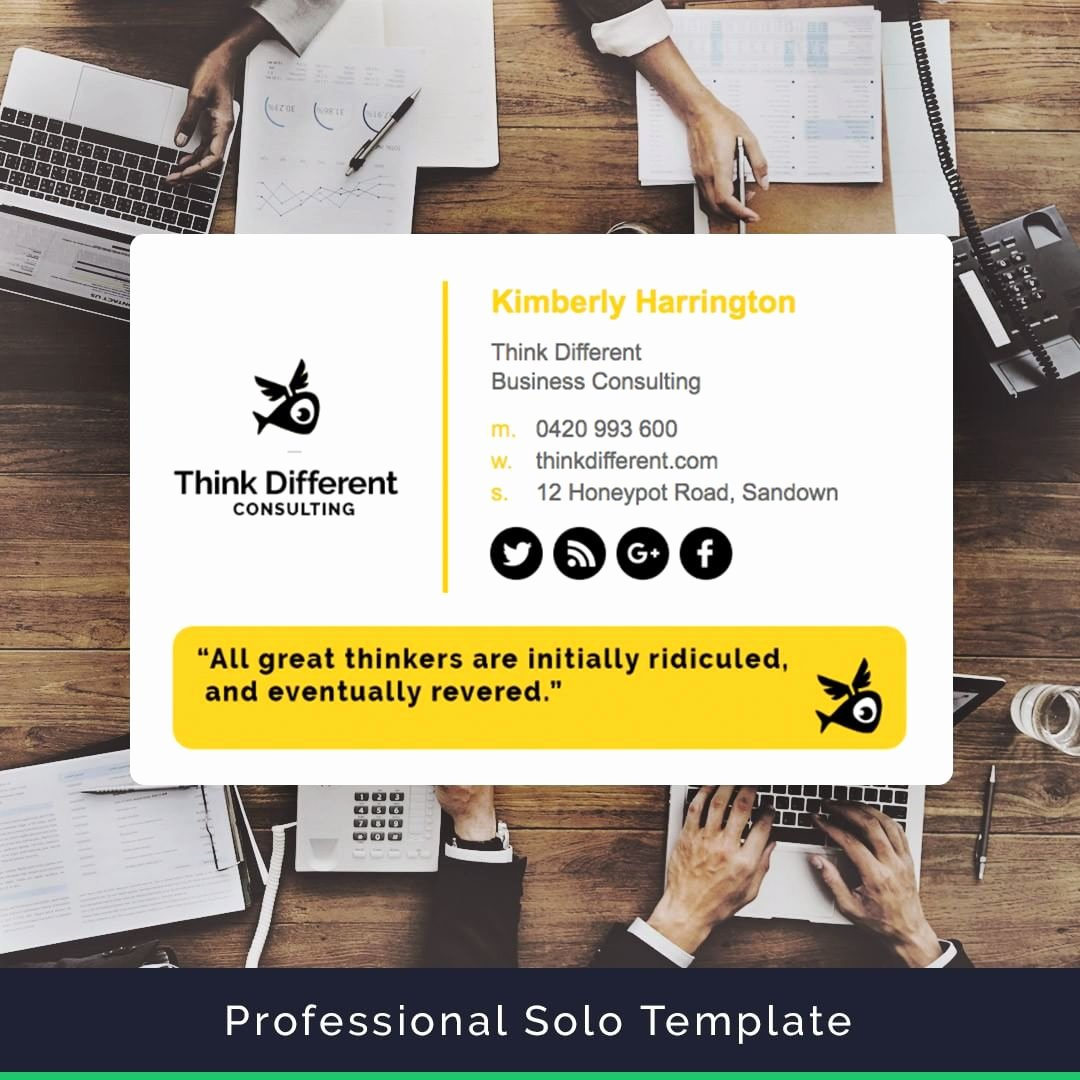 Professional E Mail Template Awesome Professional Email Signature Template