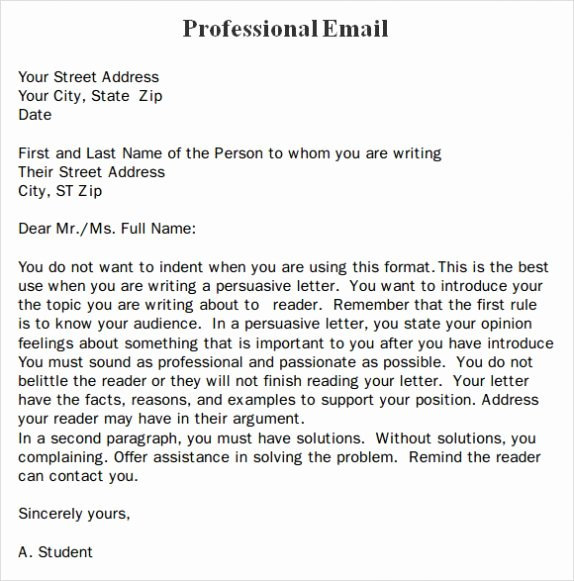 Professional E Mail Template Elegant Professional Business Email format Template Example & Sample