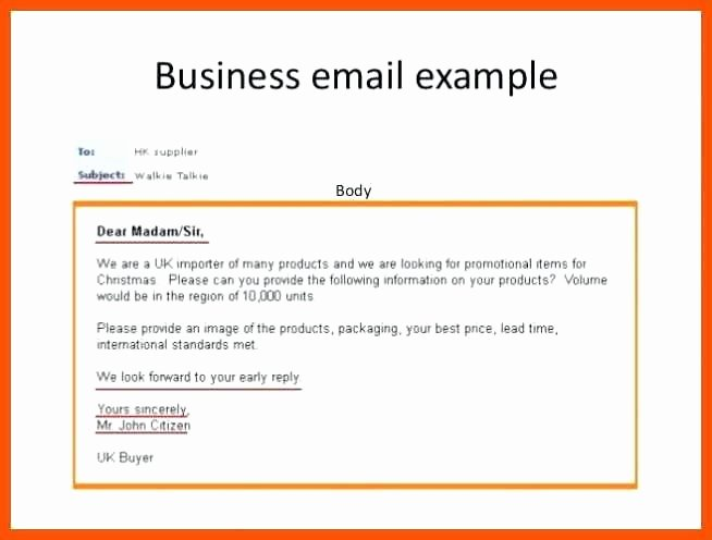 Professional E Mail Template New 15 Business format