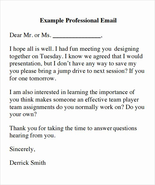 Professional E Mail Template New Sample Email 13 Documents In Pdf Word Excel Psd