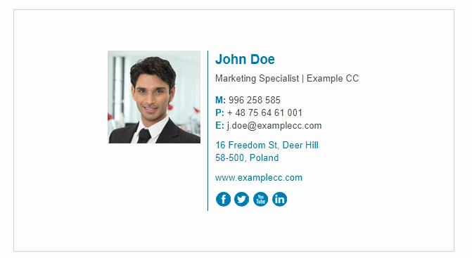 Professional E Mail Templates Elegant Professional Email Signature Templates