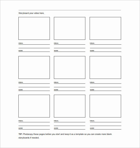 Professional Film Storyboard Template Awesome 7 Movie Storyboard Templates Doc Excel Pdf Ppt