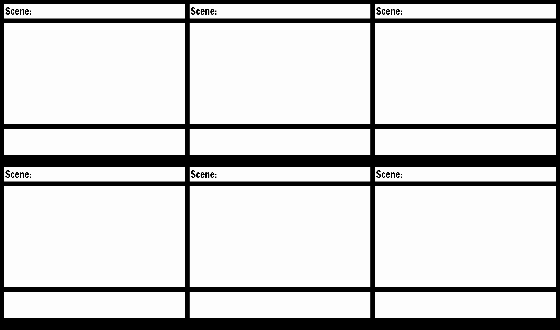 Professional Film Storyboard Template Awesome Blank Storyboard Template Storyboard by Anna Warfield