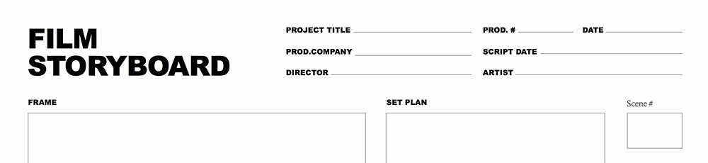 Professional Film Storyboard Template Awesome Video Storyboard Template