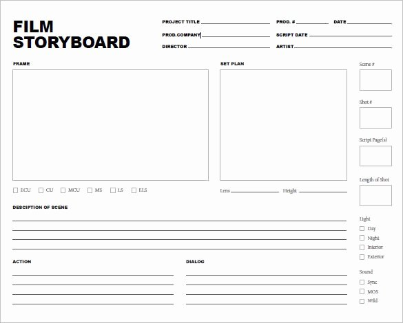 Professional Film Storyboard Template Beautiful Free Storyboard Templates Pdf Word Samples & Examples