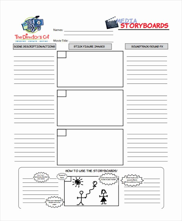 Professional Film Storyboard Template Best Of 35 Sample Professional Storyboard Templates