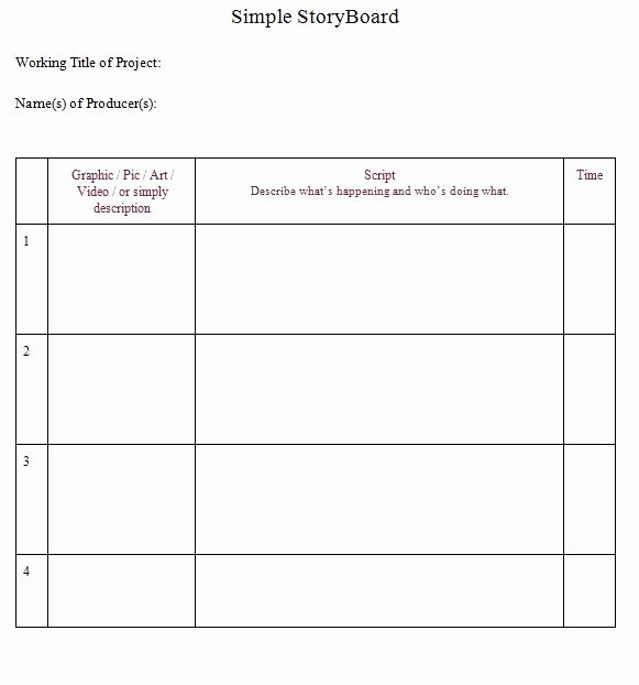 Professional Film Storyboard Template Best Of 40 Professional Storyboard Templates & Examples