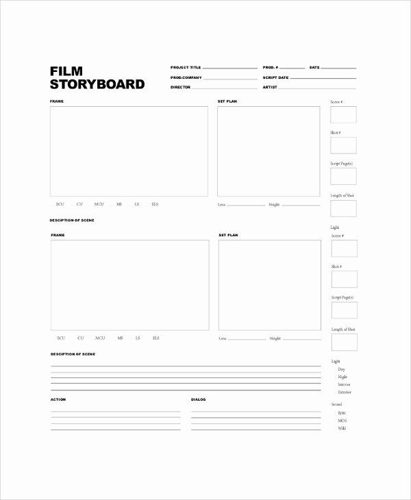 Professional Film Storyboard Template Fresh Sample Storyboard 22 Documents In Pdf Word