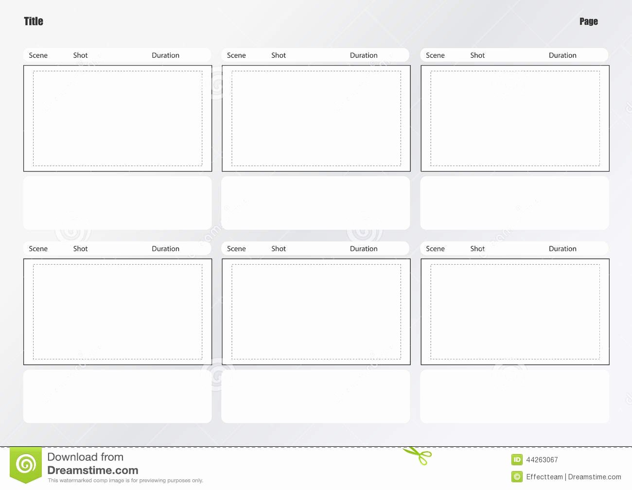 Professional Film Storyboard Template Lovely Professional Storyboard Template Stock