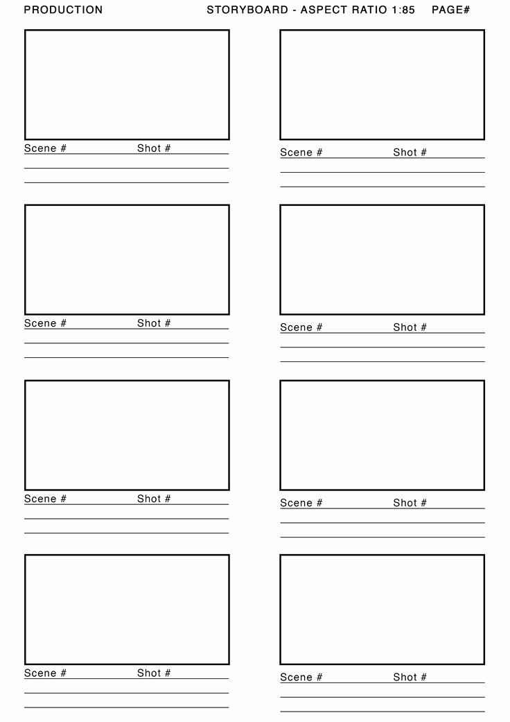 Professional Film Storyboard Template Luxury 1 85 aspect Ratio Storyboard Template Google Search