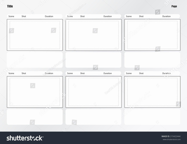 Professional Film Storyboard Template Luxury Professional Storyboard Template Easy Present Stock