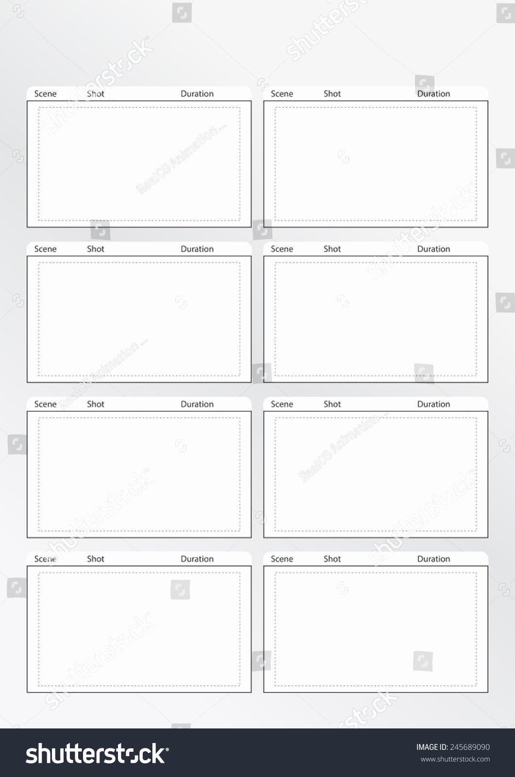 Professional Film Storyboard Template Luxury Professional Storyboard Template for Easy to