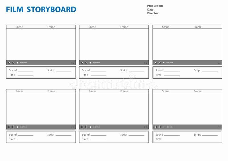 Professional Film Storyboard Template Luxury Storyboard Template for Story Stock Vector