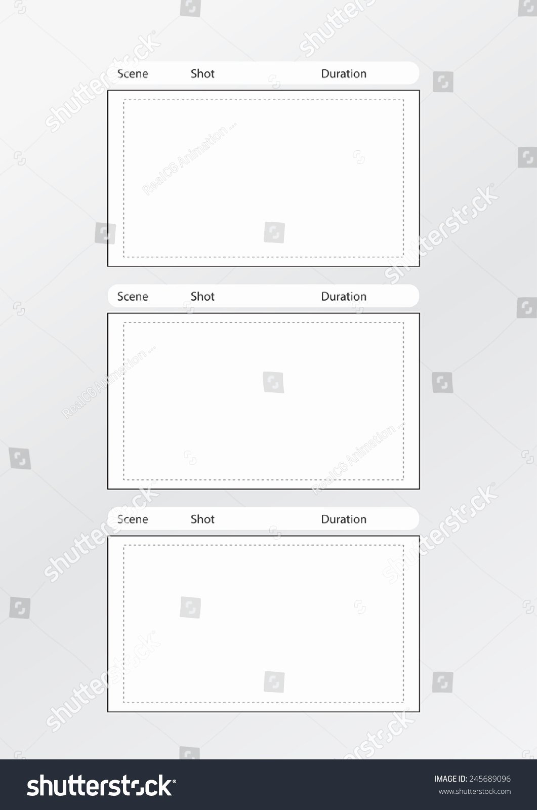 Professional Film Storyboard Template New Professional Storyboard Template Easy Present Stock