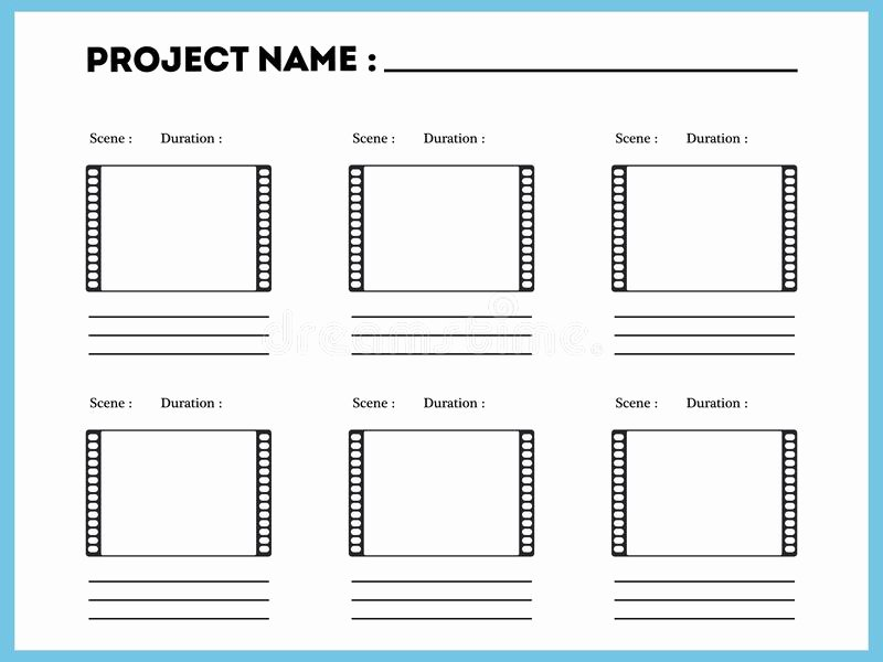 Professional Film Storyboard Template New Storyboard Template for Story Stock Vector