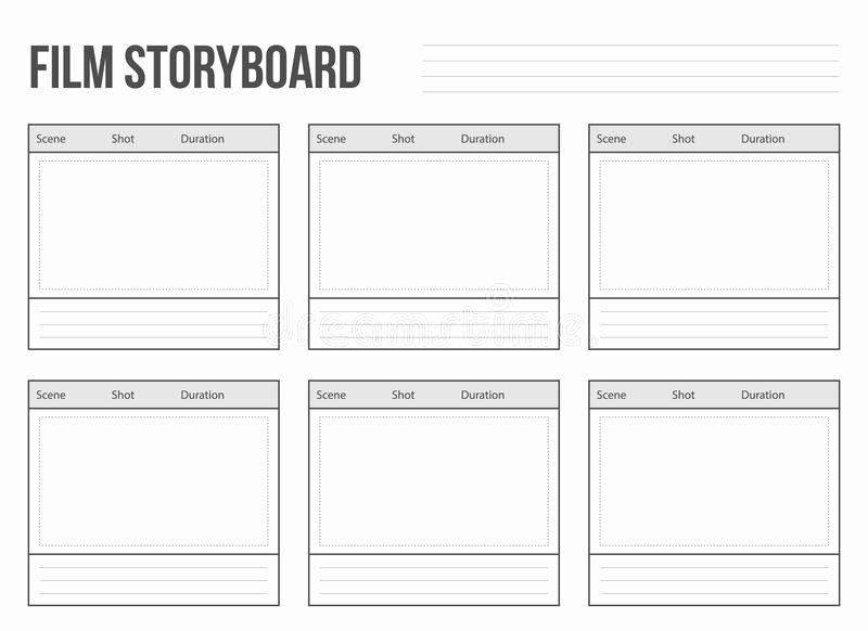 Professional Film Storyboard Template Unique Storyboard Template for Story Stock Vector