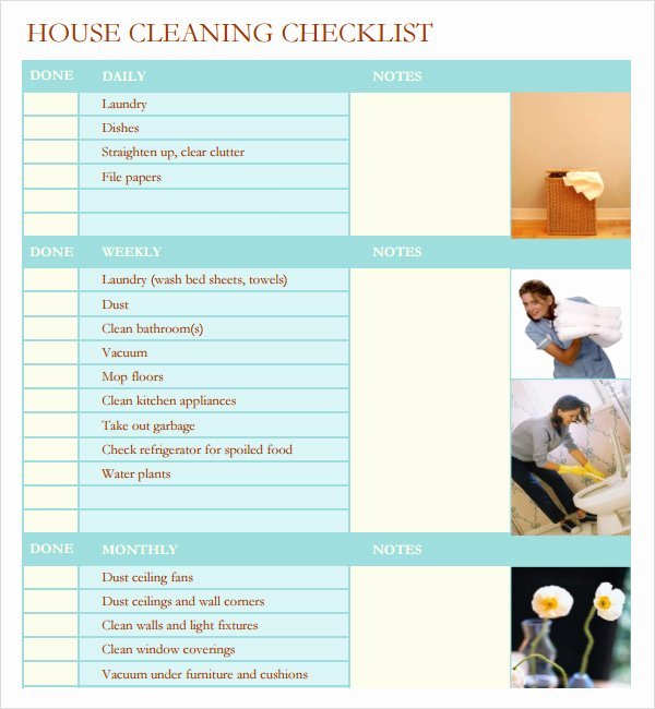 Professional House Cleaning Checklist Template Best Of Professional House Cleaning Checklist Template