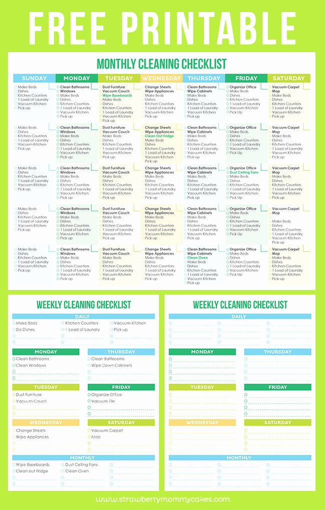 Professional House Cleaning Checklist Template Inspirational the Best Free Printable Cleaning Checklists Sarah Titus