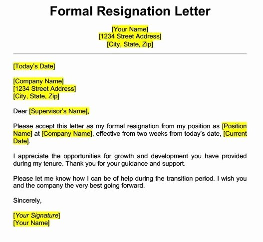 Professional Resignation Letter Template Awesome Get Best Resignation Letter Sample with Rreason