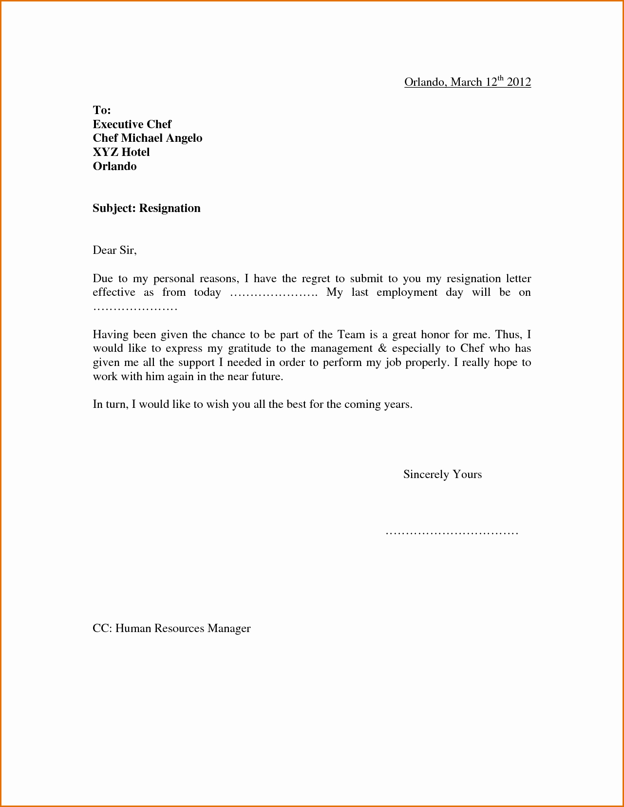 Professional Resignation Letter Template Awesome Pin by Nastajja Roberson On Cda