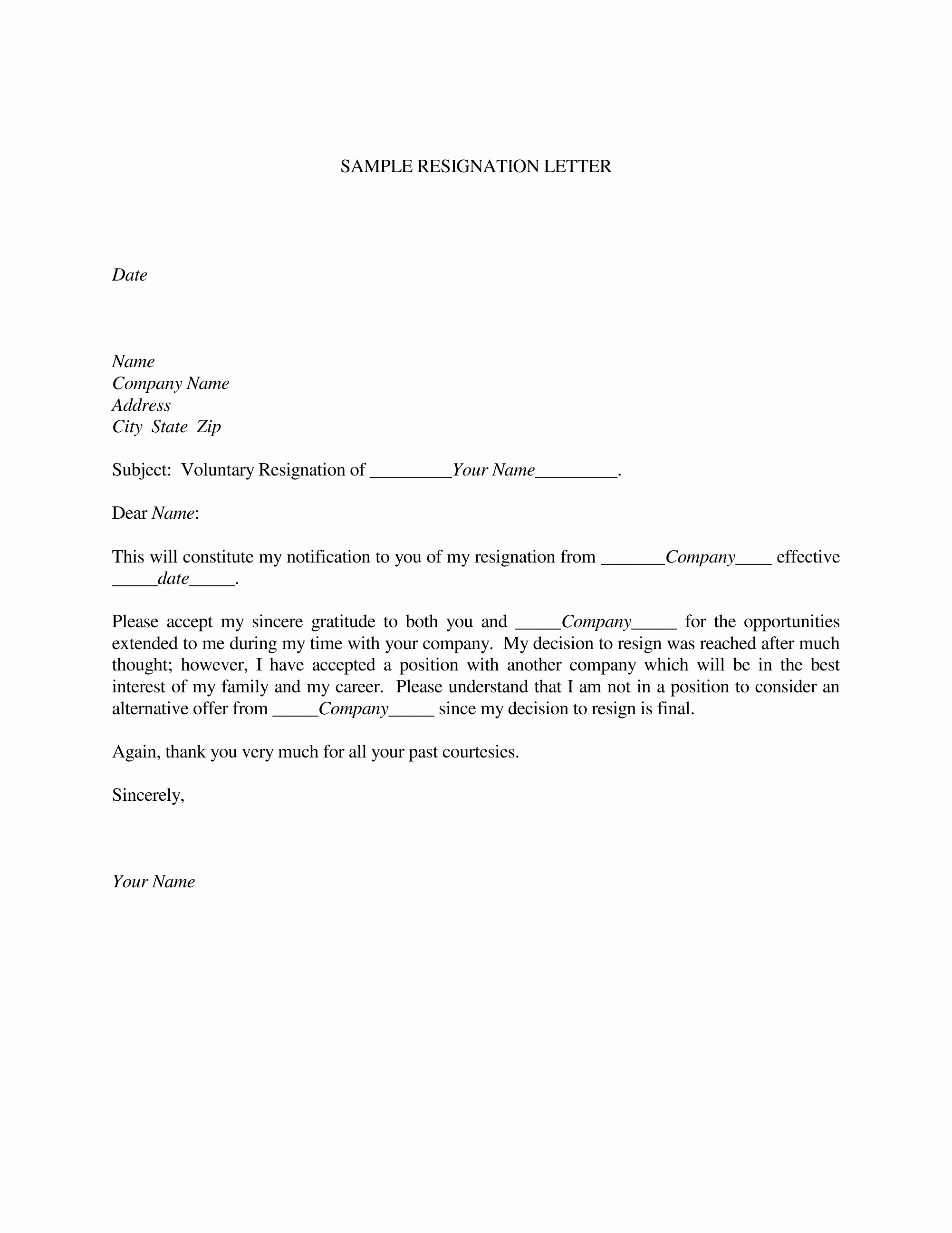 Professional Resignation Letter Template Beautiful Resignation Letter Samples Download Pdf Doc format