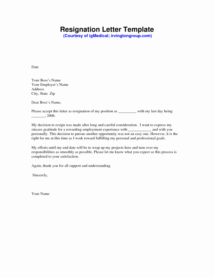 Professional Resignation Letter Template Elegant Awesome Free Sample Resignation Letter Free Word
