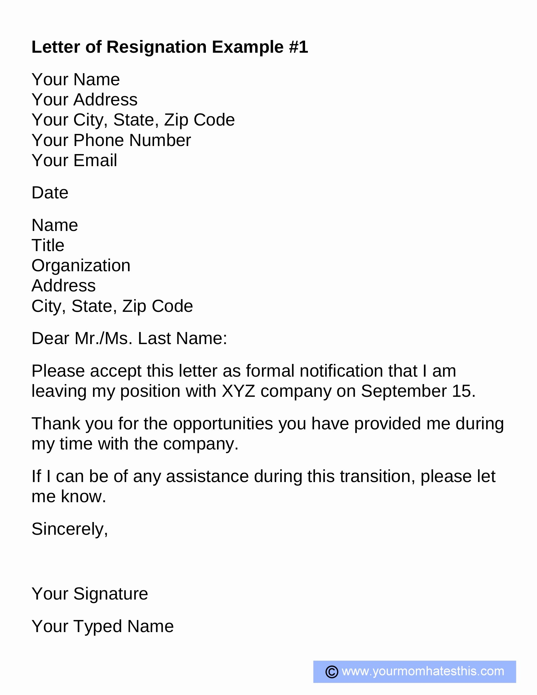 Professional Resignation Letter Template Elegant Resignation Letter Samples Download Pdf Doc format