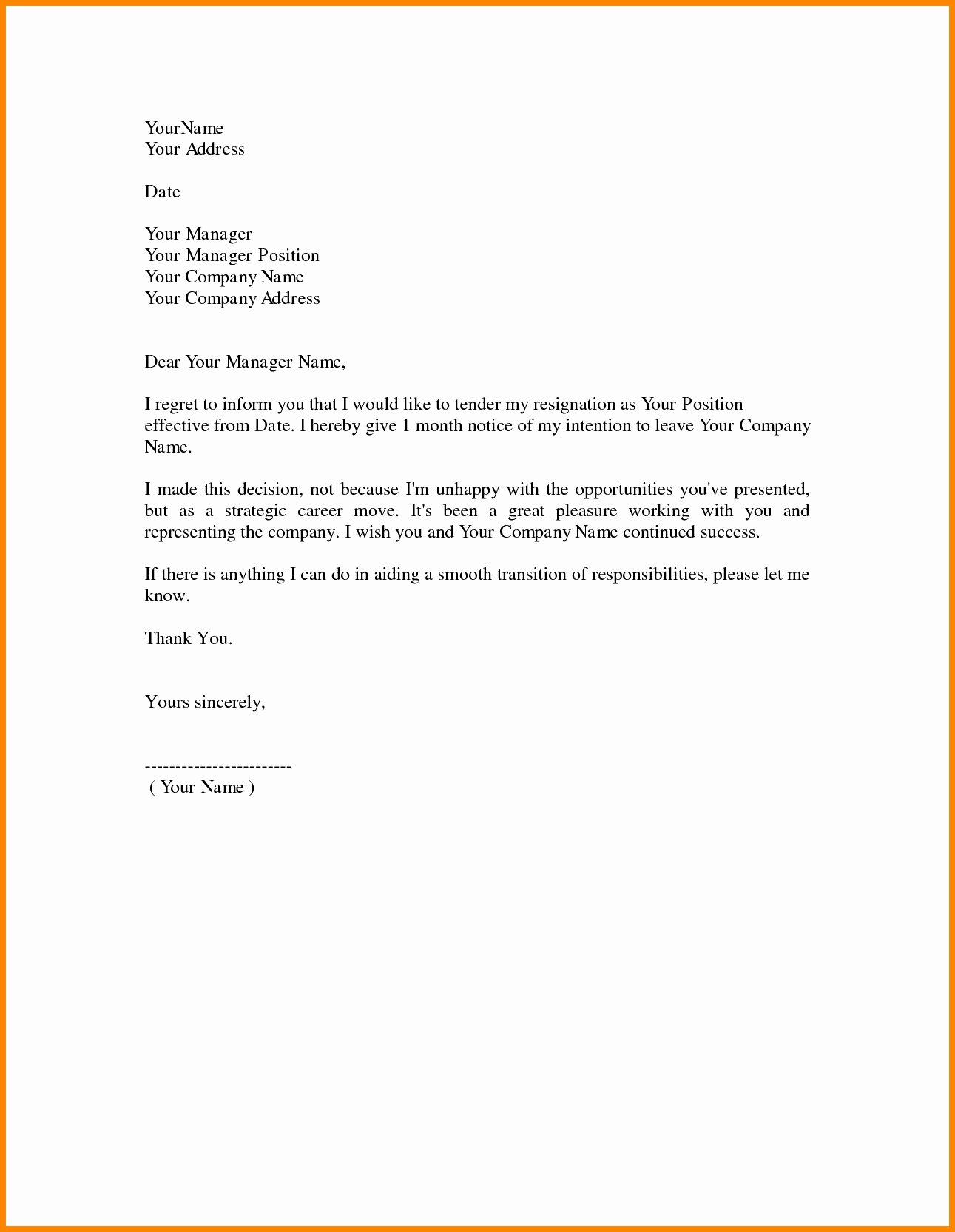 Professional Resignation Letter Template Fresh 9 10 Sample Professional Letter format