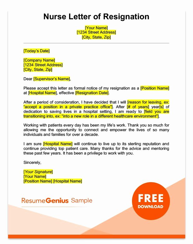 Professional Resignation Letter Template Lovely Career Specific Resignation Letters