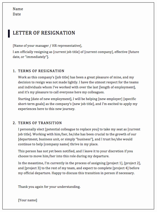 Professional Resignation Letter Template Lovely How to Write A Professional Resignation Letter [samples