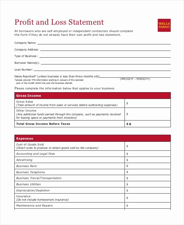Profit and Loss Template Pdf Lovely Profit & Loss Statement Template 9 Free Pdf Excel