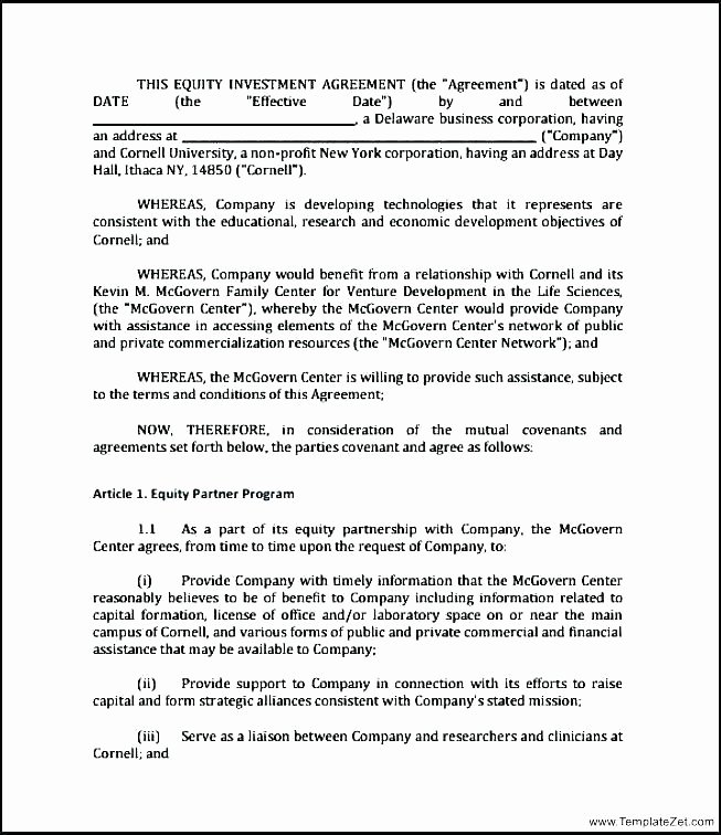 Profit Sharing Agreement Template Beautiful Non Profit Partnership Agreement Template