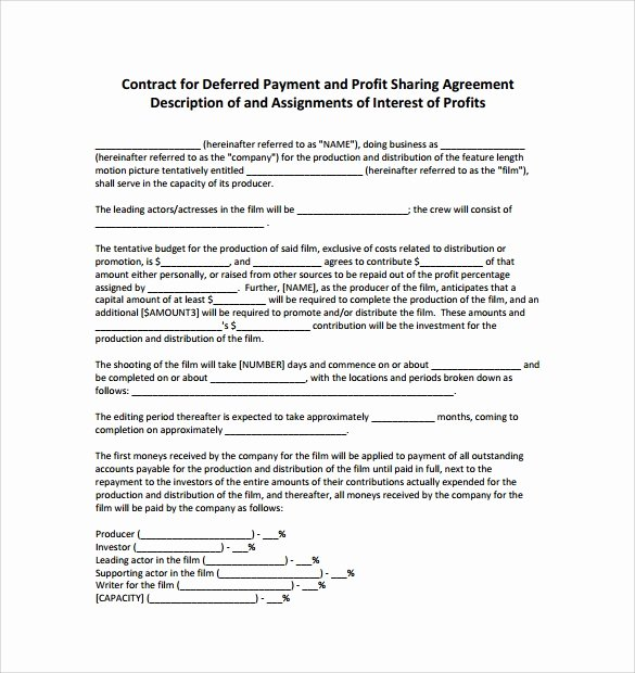 Profit Sharing Agreement Template Luxury Sample Profit Sharing Agreement 10 Free Documents In