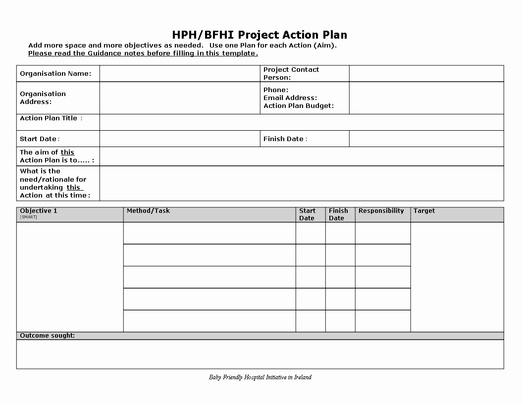Project Action Plan Template Beautiful Project Action Plan Word