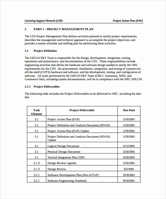Project Action Plan Template Best Of Sample Project Action Plan Template 17 Documents In Pdf