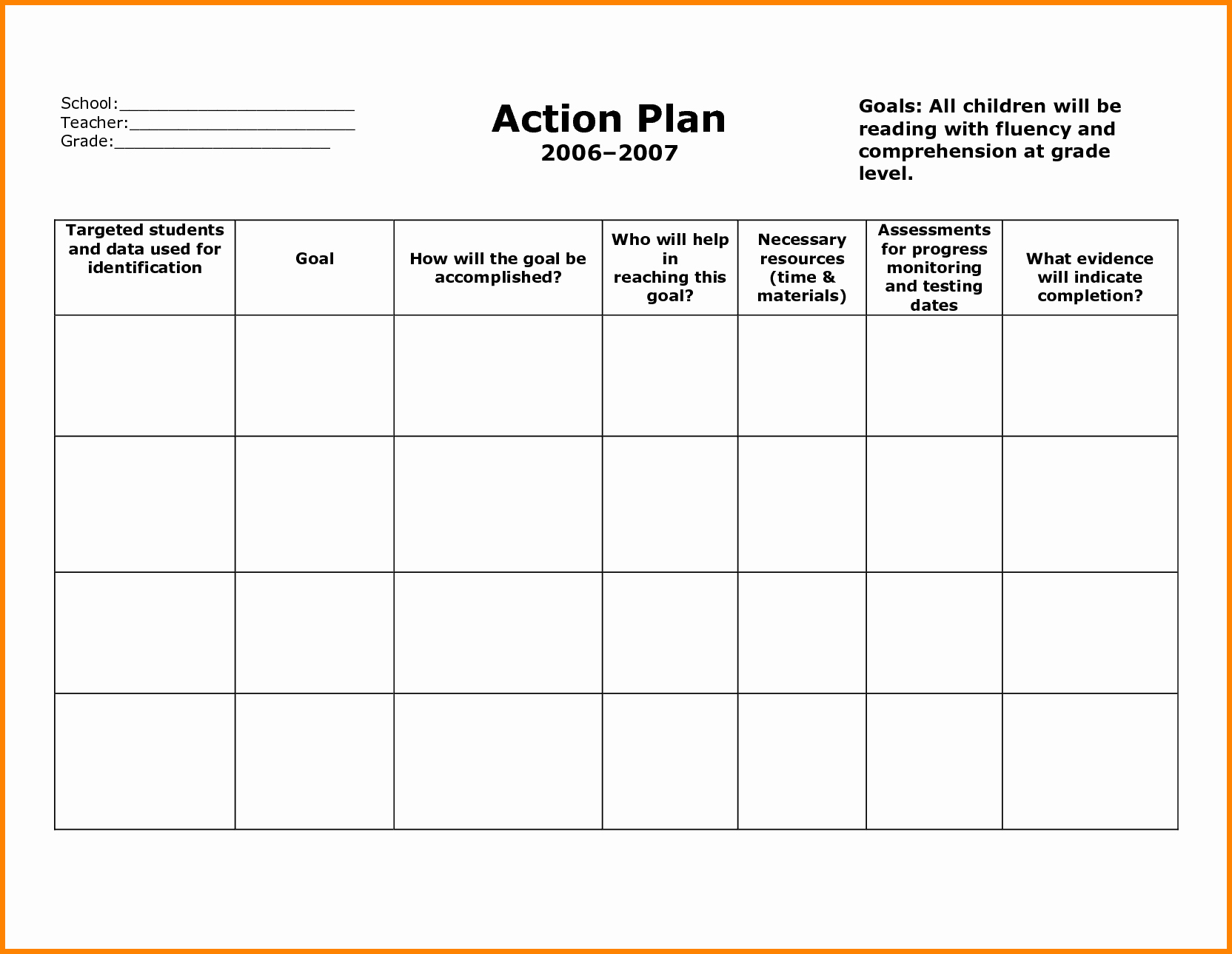 Project Action Plan Template Fresh 20 Brilliant Samples to Help You Create Business Action