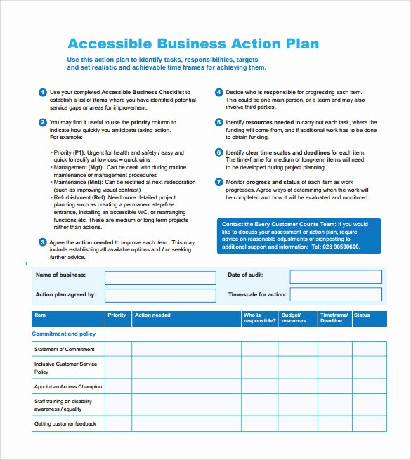 Project Action Plan Template Inspirational Sample Project Action Plan Template 17 Documents In Pdf