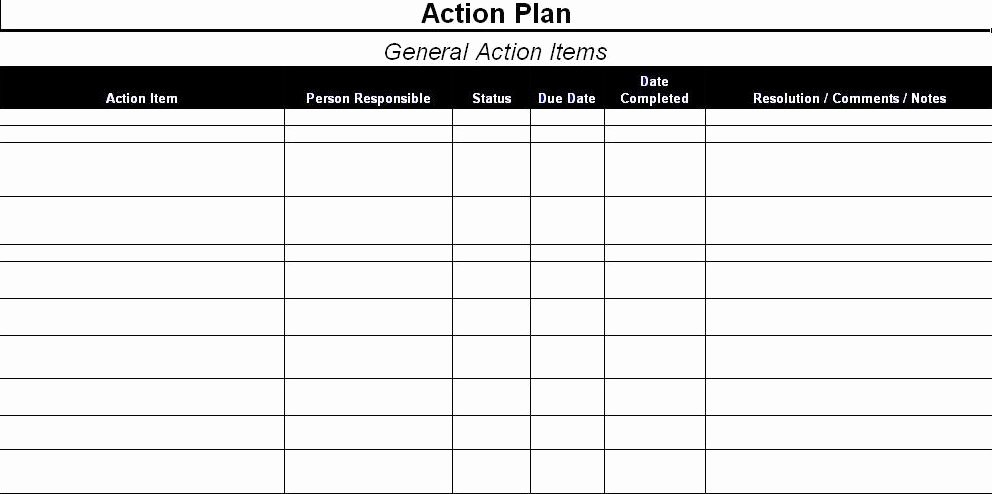 Project Action Plan Template New Action Plan Template Excel Sample Corrective