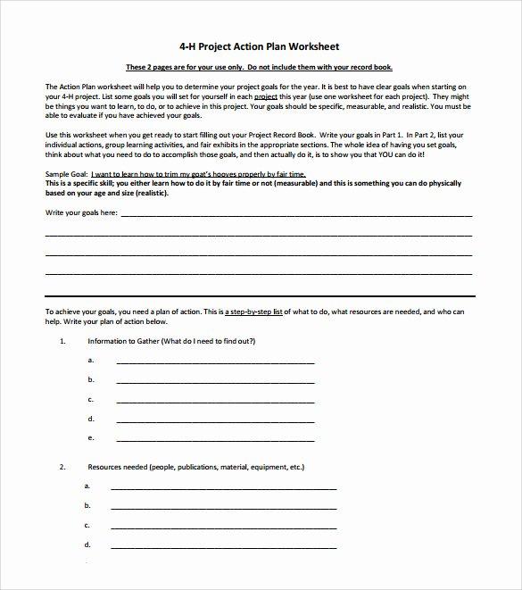 Project Action Plan Template Unique Sample Project Action Plan Template 17 Documents In Pdf