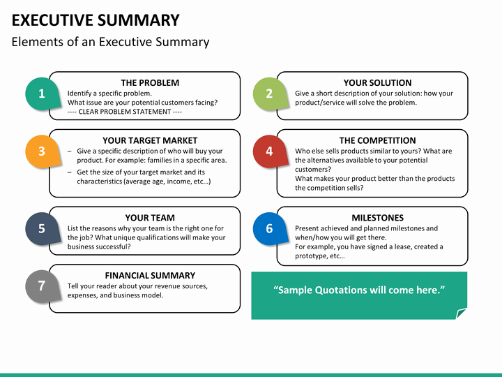 Project Executive Summary Template Beautiful Executive Summary Powerpoint Template