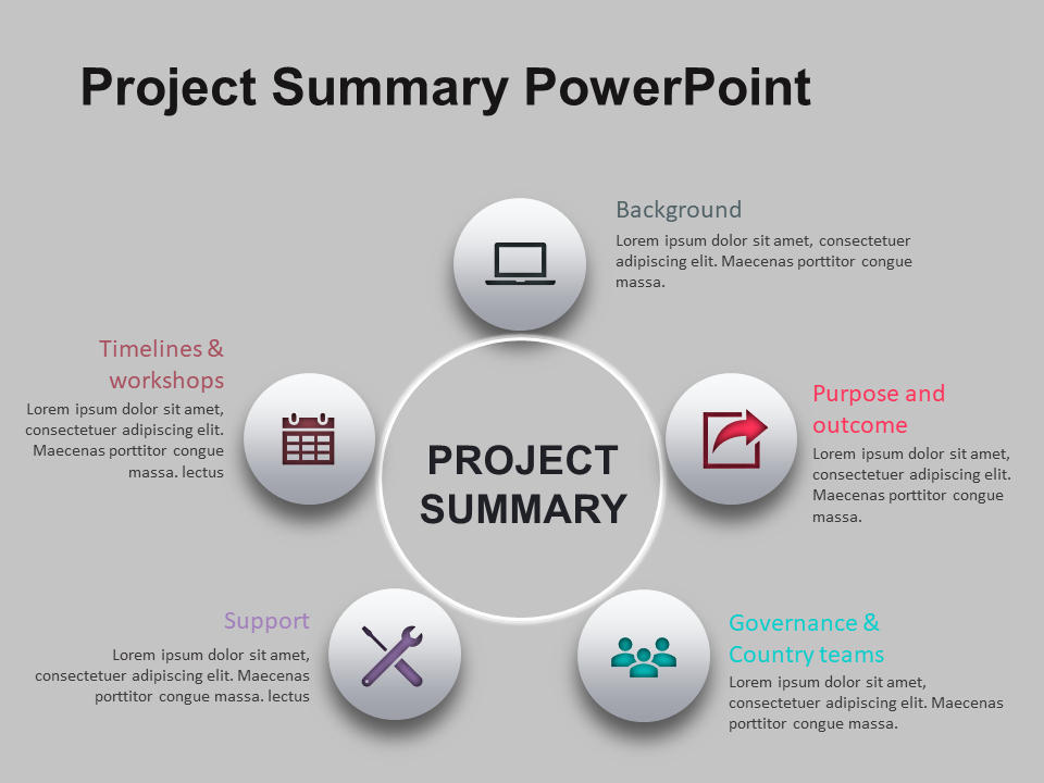 Project Executive Summary Template Beautiful Project Summary Powerpoint Template 1