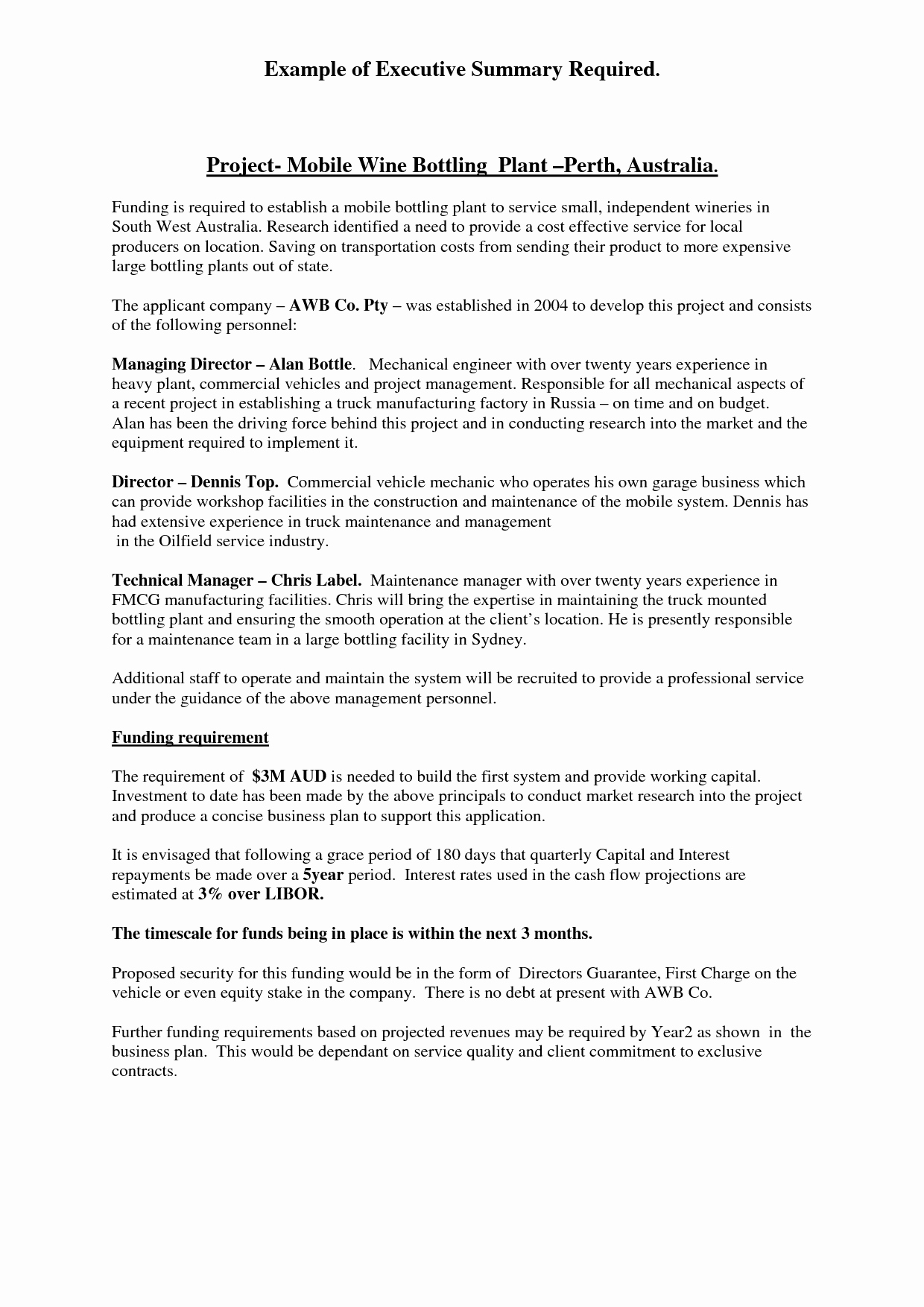 Project Executive Summary Template Best Of Executive Summary format for Project Report