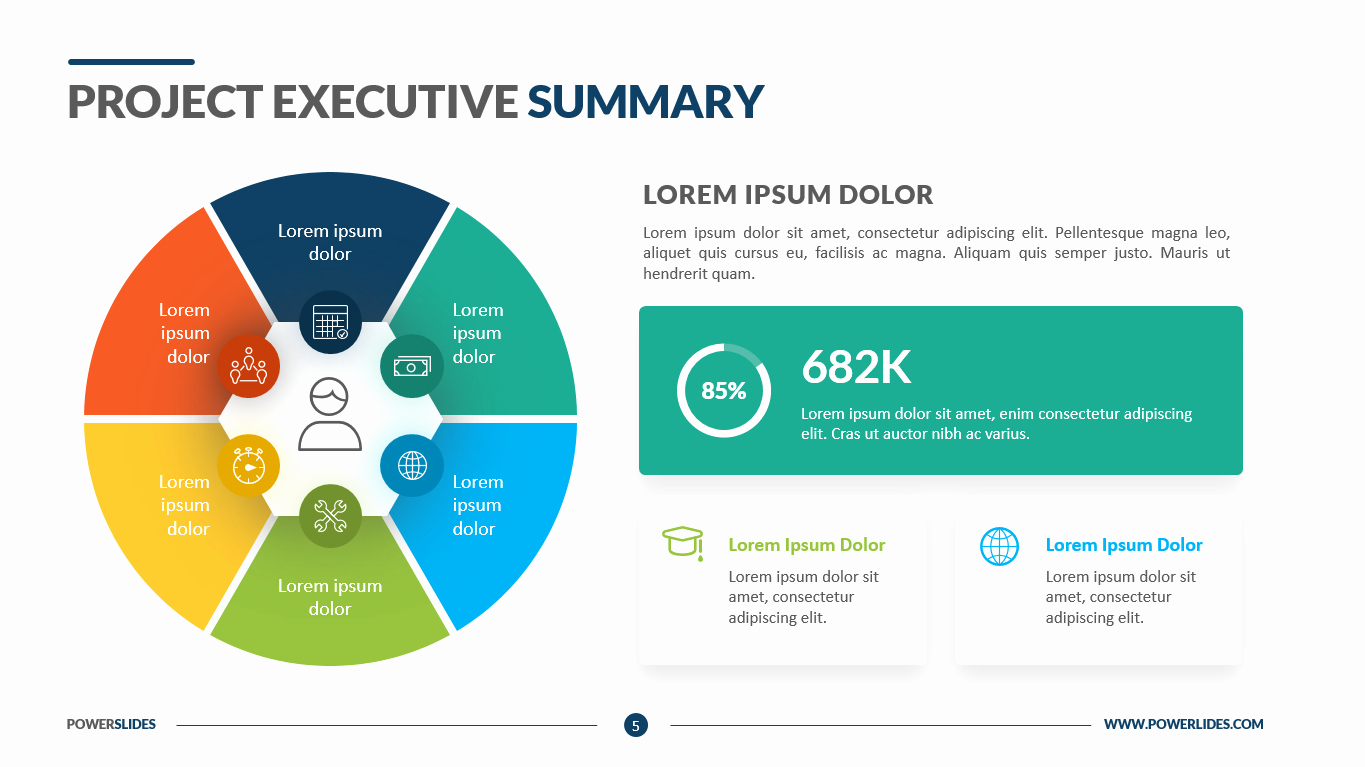Project Executive Summary Template Elegant Project Executive Summary Powerslides