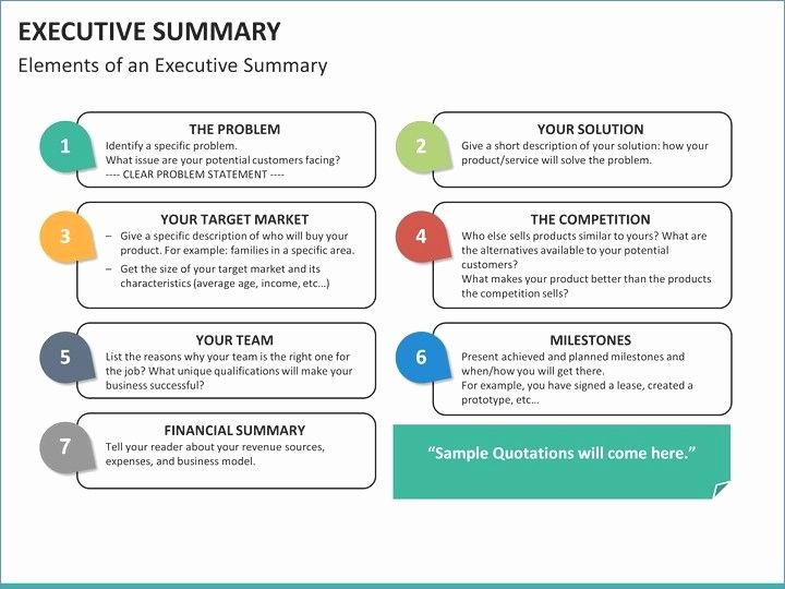 Project Executive Summary Template Luxury Executive Summary Powerpoint Example Joselinohouse