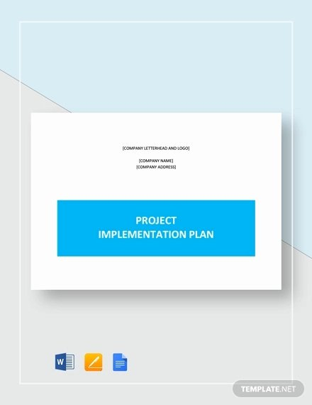 Project Implementation Plan Template Beautiful 9 Project Implementation Templates Free Sample Example