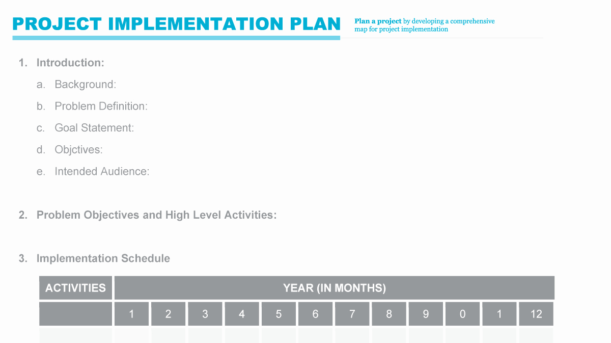 Project Implementation Plan Template Lovely Implementation Plan