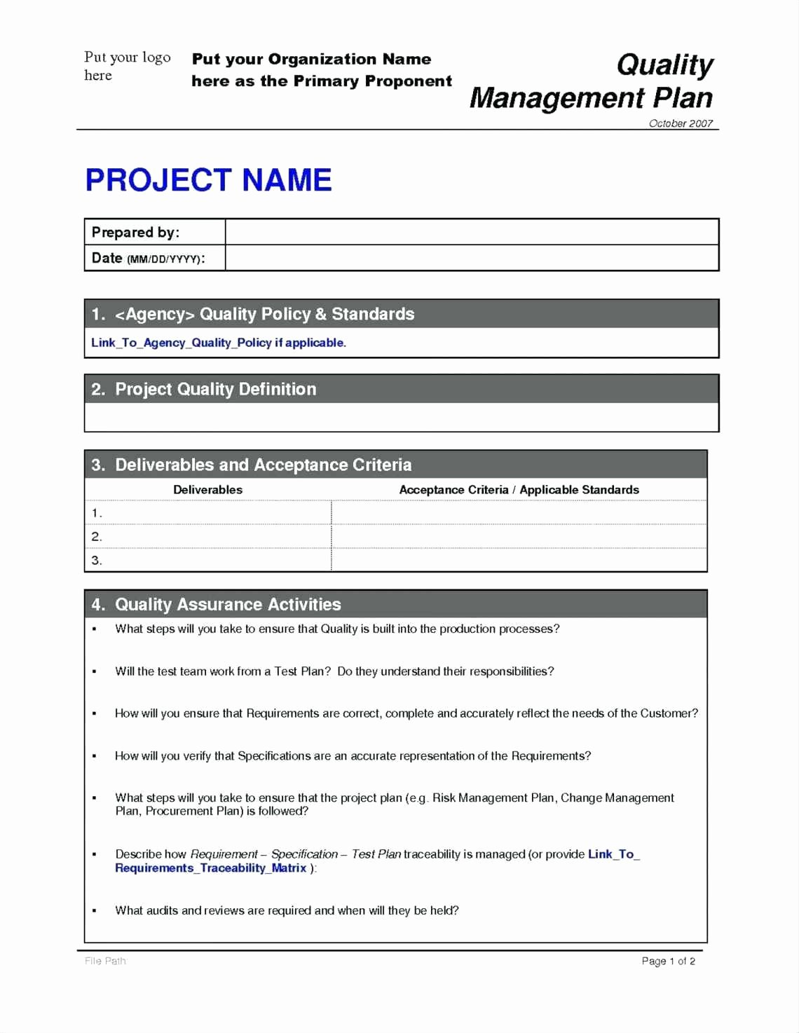 Project Management Plan Template Luxury Project Management Process Template Funresearcher