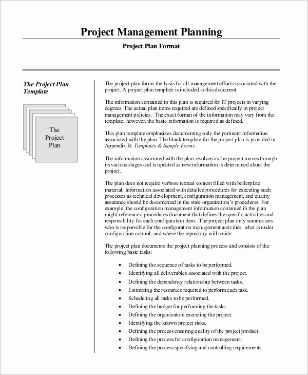 Project Management Plan Template Luxury Sample Project Management Plan 15 Examples In Word Pdf