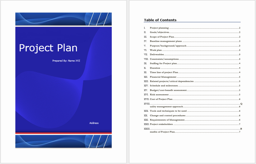 Project Management Plan Template Unique Project Plan Template – Word Templates for Free Download