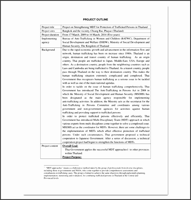 Project Outline Template Word Best Of 5 Project Outline Template In Word Sampletemplatess